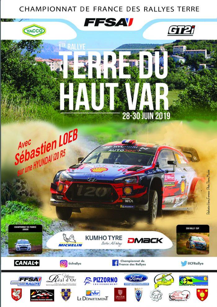 Nacionales de Rallyes Europeos(y no europeos) 2019: Información y novedades - Página 9 AFFICHE-LOEB-1ER-TERRE-DU-HAUT-VAR-2019-A4-700x990